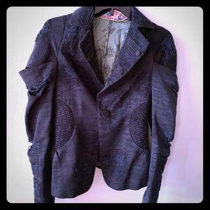 L.A.M.B Distressed blazer